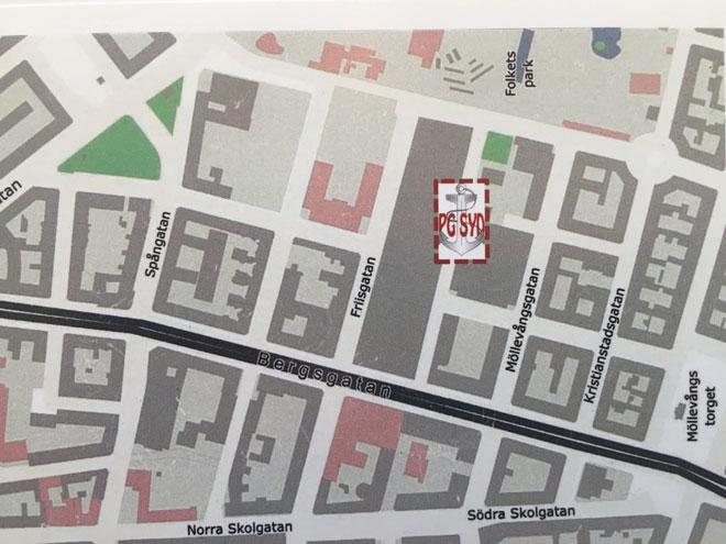 Karta over Barkgatan