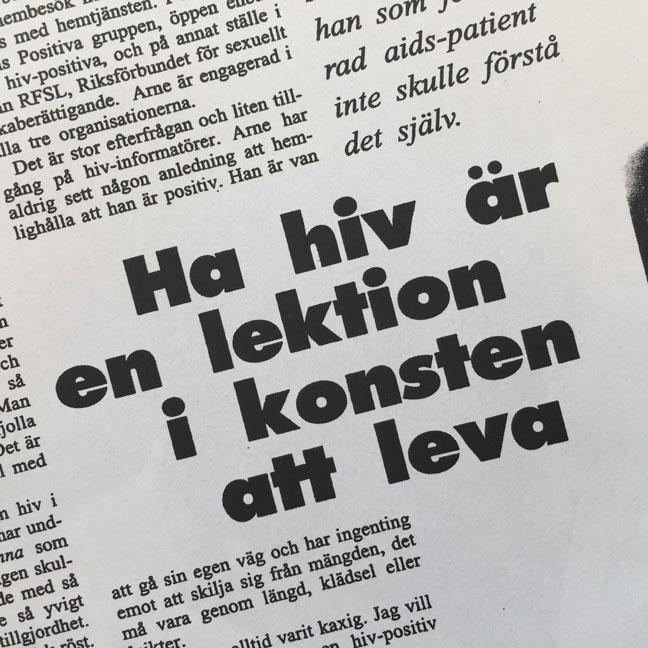 Tidningsurklipp hiv