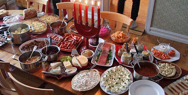 Julbord på Postitiva Gruppen Syd hiv